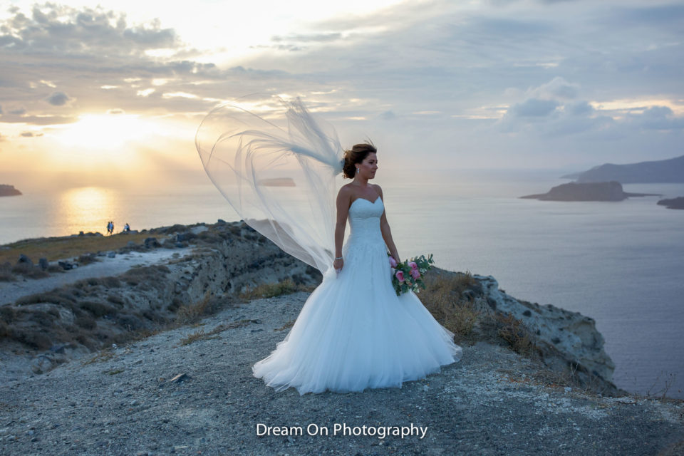 bridal make up in santorini