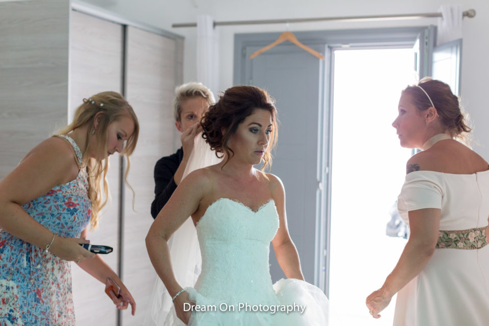 bridal make up santorini